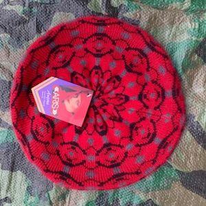 Fabulous Red Angora Beret Style Women's Winter Hat